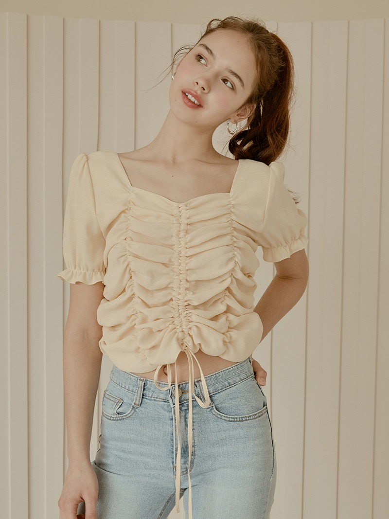 love Shirring blouse [3color]